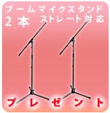 【P】ブームマイクスタンド2本組みESM-3601