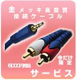 【P】RCA-Phoneミニケーブル プレゼント