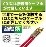 CDJにはケーブルは付属しています。世界一を体験するにはBeldenを!