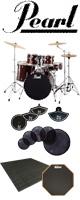【自宅練習用セット】Pearl(パール) / ROADSHOW RS525SCW/C #91(レッドワイン)【入門用 エントリーモデル】- ドラムセット -