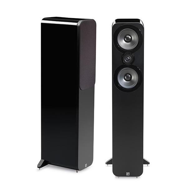 Q Acoustics(キューアコースティックス) / 3050 Gloss Black (ペア) - フロアスタンディングスピーカー - 1大特典セット