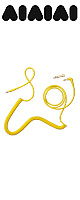 AIAIAI(アイアイアイ) /  TMA-2 Modular Parts 【CABLES(ケーブル)】 C09 (Coiled Yellow w/adaptor   3mm   1.5m) - TMA-2 専用パーツ -