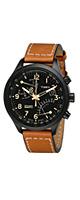 TIMEX(タイメックス) / Intelligent Quartz Fly-Back Chronograph Brown Leather Strap Watch (Tan/Black / T2N700) 腕時計