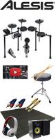 【モニタースピーカー付きセット】Alesis(アレシス) / NITRO KIT - 電子ドラム -【納期未定】 8大特典セット