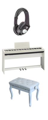 ■ご予約受付■ 【専用スタンド&ペダルボード】+猫足ベンチ Roland(ローランド) / FP-30-WH - 電子ピアノ デジタルピアノ - 1大特典セット