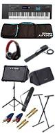 【電池駆動CUBE-STEXセット】 Roland(ローランド) /  JUNO-DS61 スピーカースタンド、ケースセット 8大特典セット