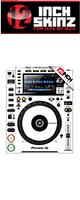 12inch SKINZ / Pioneer CDJ-2000NXS2 Skinz (White/Black) ペア 【CDJ-2000NXS2用スキン】