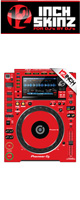 12inch SKINZ / Pioneer CDJ-2000NXS2 Skinz (Red) ペア 【CDJ-2000NXS2用スキン】