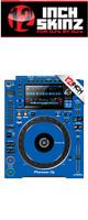 12inch SKINZ / Pioneer CDJ-2000NXS2 Skinz (Blue) ペア 【CDJ-2000NXS2用スキン】