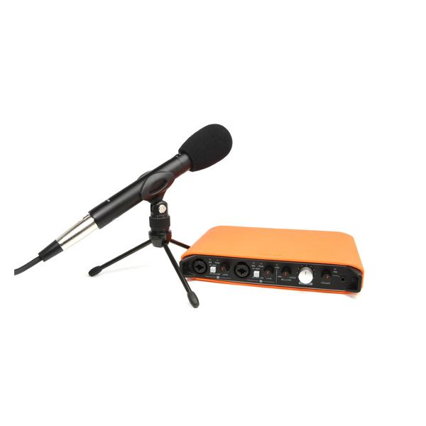 Tascam(タスカム ) / TASCAM TRACKPACK iXR - オーディオ/MIDIインターフェース - 【電池で駆動できるスティックタイプのコンデンサーマイクとアクセサリー、スマートホン同様に本体を保護するシリコンケースをセット】
