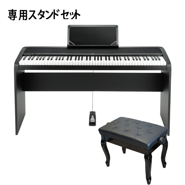 Korg(コルグ) / B1(ブラック) 【デジタルピアノ専用スタンド(STB1-BK) / 猫足ベンチ(ブラック)セット】