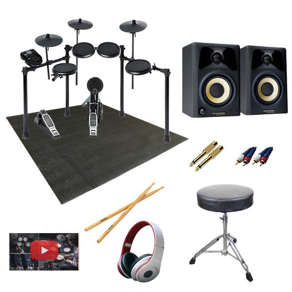 【高音質モニタースピーカー付きセット】Alesis(アレシス) / NITRO KIT - 電子ドラム -【納期未定】 8大特典セット