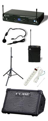 【ワイヤレスヘッドセット&スタンドセット】 CUBE STREET EX / KWS-899P/HM-38 / 《セミナー・講習にオススメ 》 1大特典セット