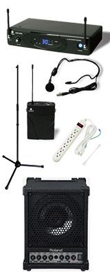 【ワイヤレスヘッドマイク_Aセット】 CM-30 / KWS-899P/HM-38 《セミナー・講習にオススメ 》 1大特典セット