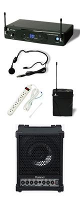 【ワイヤレスヘッドマイク_Bセット】 CM-30 / KWS-899P/HM-38 《セミナー・講習にオススメ 》 1大特典セット