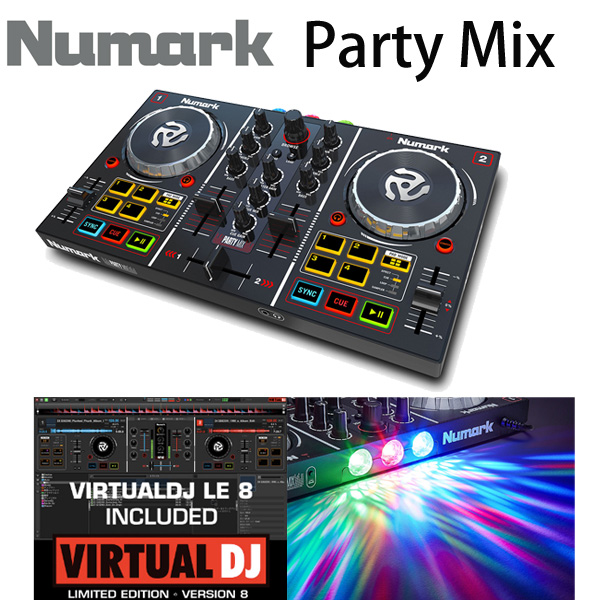 Numark(ヌマーク) / Party Mix 【Virtual DJ LE付属】- PCDJコントローラー