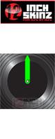 12inch SKINZ / Control Vinyl Labels (Black / Neon Green) (4枚1セット) 【コントロールレコード用ラベル】