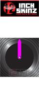 ■ご予約受付■ 12inch SKINZ / Control Vinyl Labels (Black / Neon Pink) (4枚1セット) 【コントロールレコード用ラベル】