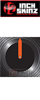 ■ご予約受付■ 12inch SKINZ / Control Vinyl Labels (Black / Neon Orange) (4枚1セット) 【コントロールレコード用ラベル】