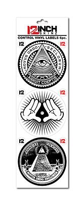 12inch SKINZ / Control Vinyl Labels (Illuminati デザイン2) (6枚1セット) 【コントロールヴァイナル用ラベル】