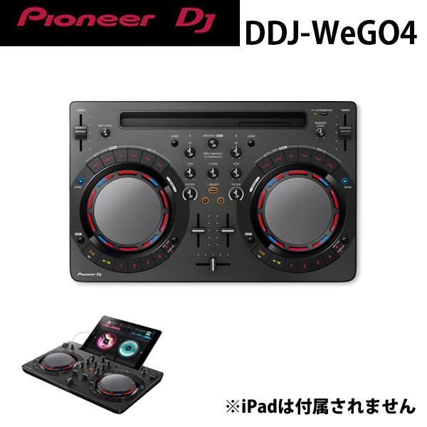 Pioneer(パイオニア) / DDJ-WeGO4-K (ブラック) 【rekordbox dj】iPad 「WeDJ」対応 ■限定セット内容■→ 【・金メッキ高級接続ケーブル 3M 1ペア ・教則DVD ・セッティングマニュアル ・PcDJ教則(D-Yama from Mogra)】