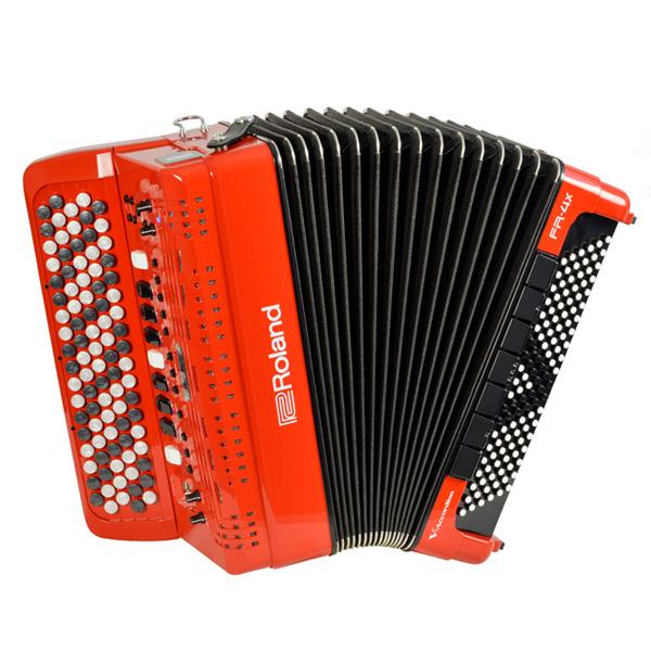 Roland(ローランド) / FR-4XB (RED) Vアコーディオン(ボタン鍵盤タイプ) - デジタルアコーディオン -
