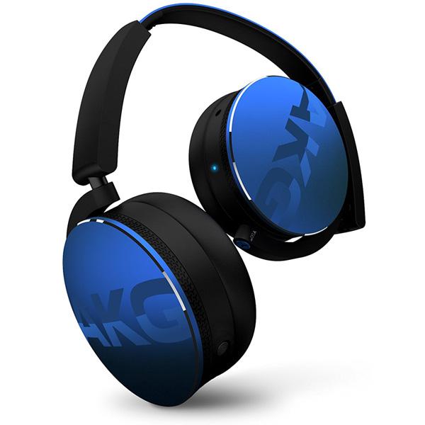AKG(アーカーゲー) / Y50BT (Blue) - Bluetooth対応 ワイヤレスヘッドホン - 1大特典セット
