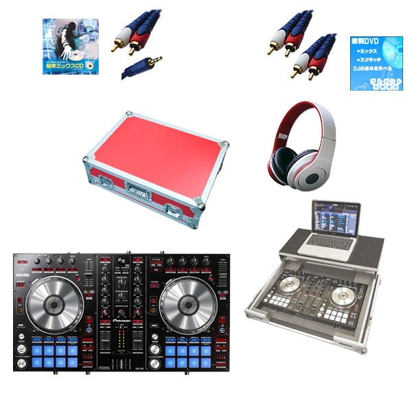 【新生活応援セット】Pioneer(パイオニア) / DDJ-SR  フライトケース(レッド)激安定番モバイルAセット 『セール』『DJ機材』