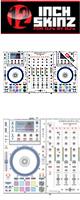 12inch SKINZ / DENON MCX8000 SKINZ (WHITE/BLACK) - 【MCX8000用スキン】