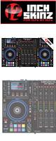 12inch SKINZ / DENON MCX8000 SKINZ (BLACK) - 【MCX8000用スキン】