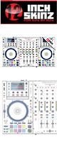 12inch SKINZ / DENON MCX8000 SKINZ (WHITE/GRAY) - 【MCX8000用スキン】