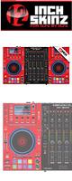 12inch SKINZ / DENON MCX8000 SKINZ (RED/BLACK) - 【MCX8000用スキン】