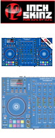 12inch SKINZ / DENON MCX8000 SKINZ (BLUE) - 【MCX8000用スキン】