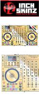 12inch SKINZ / DENON MCX8000 SKINZ Metallics (Mirror Gold) - 【MCX8000用スキン】