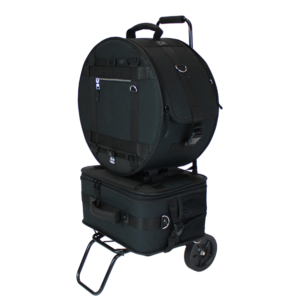 Pearl(パール) / PSC-BJSPCA - Black Jam シリーズ スネアドラム&ドラムペダルキャリングバッグ 【カート付き】  Black Jam シリーズ