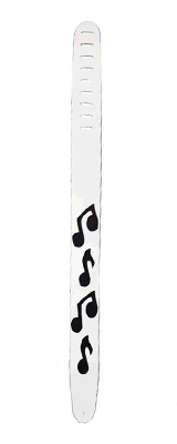Perri's(ペリーズ) / P25MN-1253 (WHITE) - 音符 レザー ギターストラップ - 【SCANDAL MAMI使用モデル】