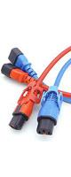 APW15-C14/C13LP-01.8-RD - 抜け防止ロック電源ケーブル(ロックプラス)カラーモデル赤 1.8m -