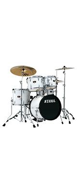"""【基本セット】TAMA(タマ) / IP58H6HC-SGW(シュガーホワイト)  【2018 IMPERIALSTAR 18""""バスドラムキット】- ドラムセット - 5大特典セット"""