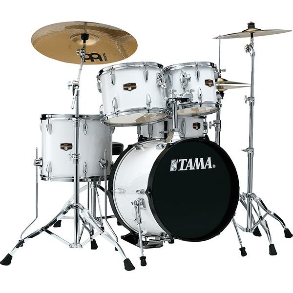 """【基本セット】TAMA(タマ) / IP58H6HC-SGW(シュガーホワイト)  【2018 IMPERIALSTAR 18""""バスドラムキット】- ドラムセット -"""