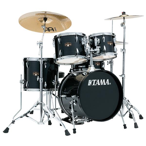 """【基本セット】TAMA(タマ) / IP58H6HC-HBK(ヘアライン・ブラック)  【2018 IMPERIALSTAR 18""""バスドラムキット】- ドラムセット -"""