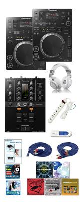 CDJ-350 / DJM-250mk2 激安定番オススメBセット 12大特典セット
