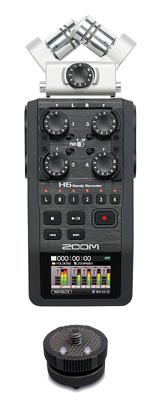 Zoom(ズーム) / H6 【HS-1 ホットシューマウント付きセット】 - ハンディレコーダー -