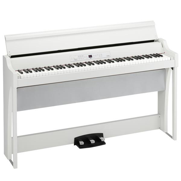 【限定1台】Korg(コルグ) / G1 Air WH (ホワイト) - 88鍵盤 デジタルピアノ / 電子ピアノ - 【専用スタンド、3本ペダル、ヘッドホン付属】【店頭展示品】『セール』