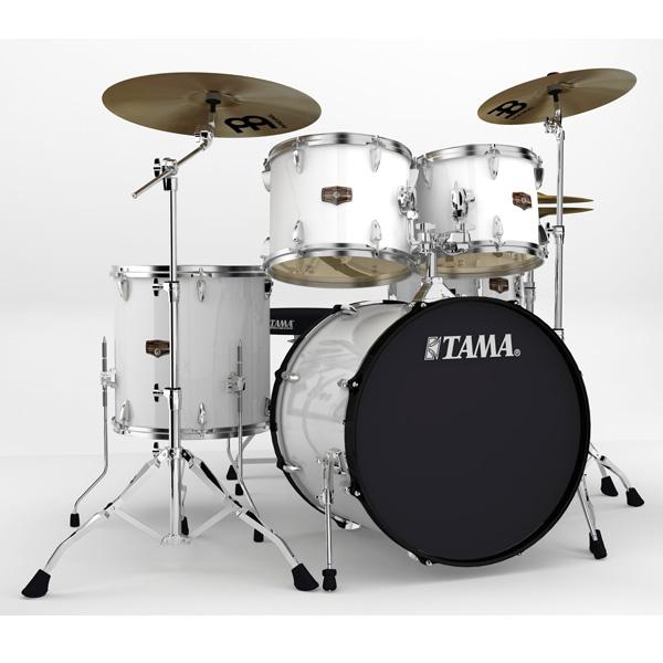 """【基本セット】TAMA(タマ) / インペリアルスターIP52H6HC-SGW (シュガー・ホワイト)  【IMPERIALSTAR 22""""バスドラムキット】- ドラムセット -"""