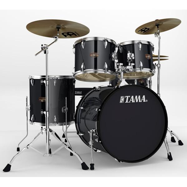 """【基本セット】TAMA(タマ) / インペリアルスター IP52H6HC-HBK (ヘアライン・ブラック)  【IMPERIALSTAR 22""""バスドラムキット】- ドラムセット -"""
