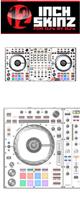 12inch SKINZ / Pioneer DDJ-SZ2 SKINZ (WHITE/BLACK) 【DDJ-SZ2用スキン】