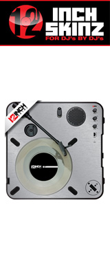 12inch SKINZ / Numark PT01 Scratch Skinz Metallics (Brushed Silver) 【PT01 Scratch用スキン】
