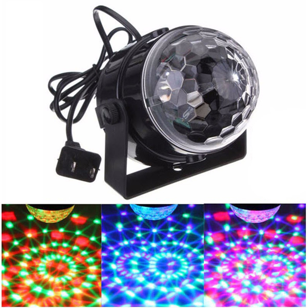 Lumiere / Mini RGB LED Crystal Magic Ball Stage Effect Lighting - ライト / ミラーボール - 【DJ / クラブ / ショー / パーティー / バー / ウェディング / クリスマス等に最適】