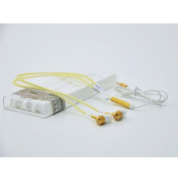 AINGSLIM / Metal Zipper Glow Earphones (GOLD) - 光るイヤホン -