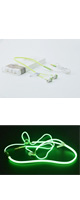 AINGSLIM / Metal Zipper Glow Earphones (GREEN) - 光るイヤホン -
